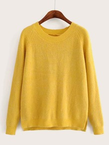 Side Split High Low Hem Sweater