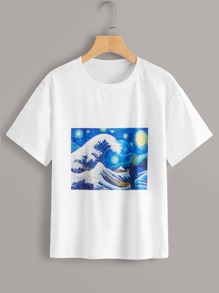 Painting Print Short Sleeve Tee
