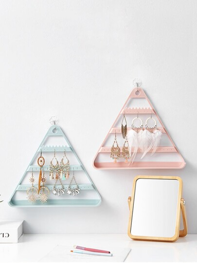 Triangle Shaped Jewelry Storage Rack 1pc