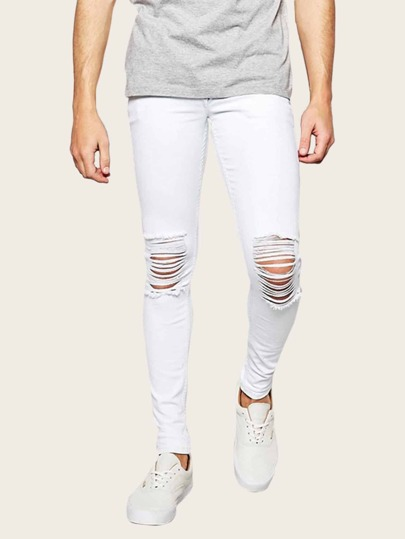 Guys Ladder Distressed Jeans