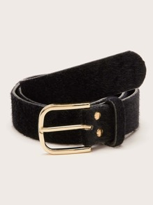 Fluffy Metal Buckle Belt