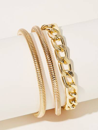 Layered Chain Bracelet 1pc