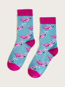 Flamingos Pattern Socks 1pair