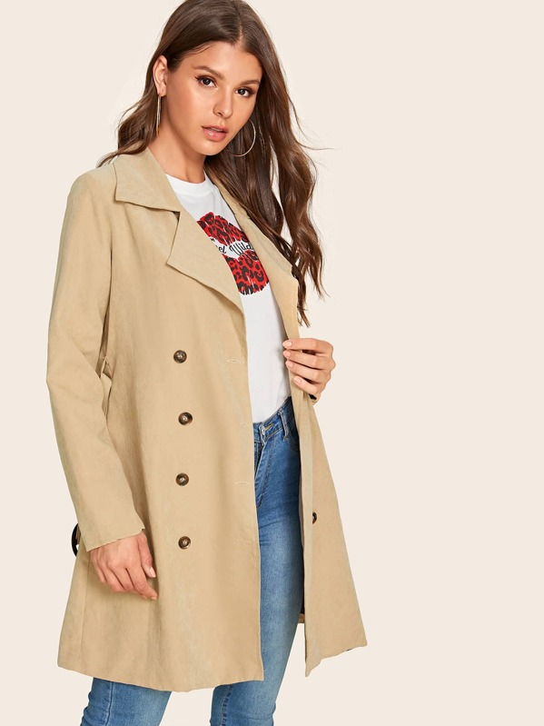 f4c627e3ee Double Breasted Belted Trench Coat