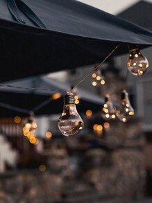 10pcs Light Bulb String Light 4M