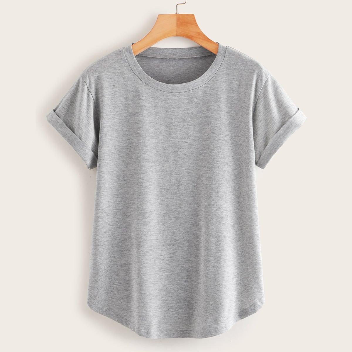 Grijs Casual Vlak T-shirts