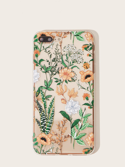 Flower & Leaf Pattern iPhone Case