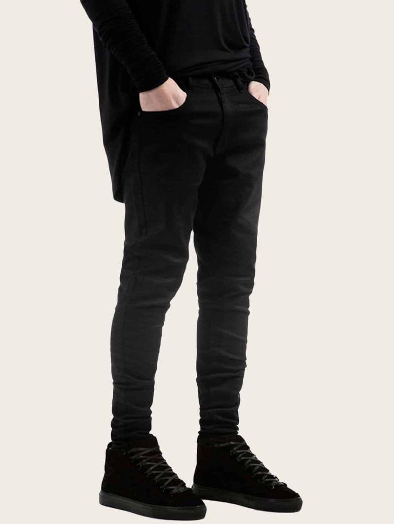 minorista online 0012f 5467d Vaqueros ajustados de hombres con bolsillo de cintura con cremallera