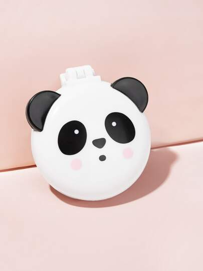 Portable Round Panda Design Folded Comb