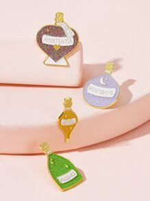 Shiny Bottle Shaped Brooch 4pcs