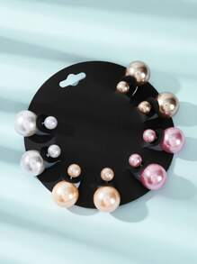 Colorful Ball Stud Earrings 4pairs