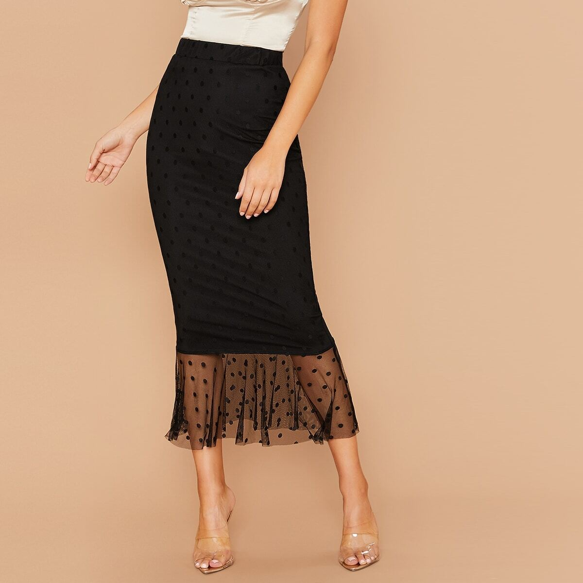 Кружевная юбка-русалка