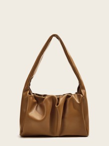 Ruched Detail Shoulder Bag