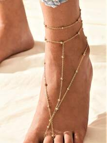 Ball Decor Toe Anklet 1pc