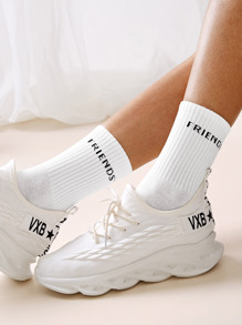 Letter Pattern Socks 1pair