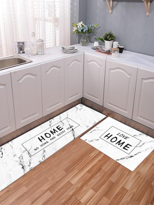 Marble Pattern Kitchen Floor Mat 1pc