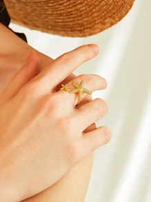 Starfish Decor Ring 1pc