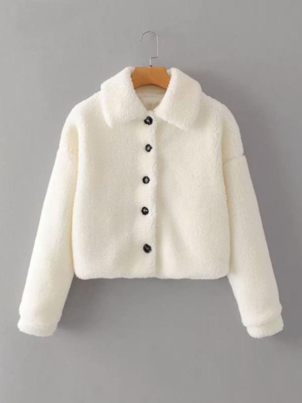 veste molletonnée blanche Shein