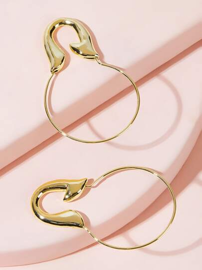 U Hoop Earrings 1pair