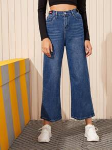 Cat Whiskers Wide Leg Jeans