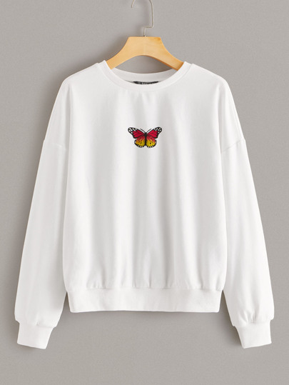 Butterfly Print Pullover