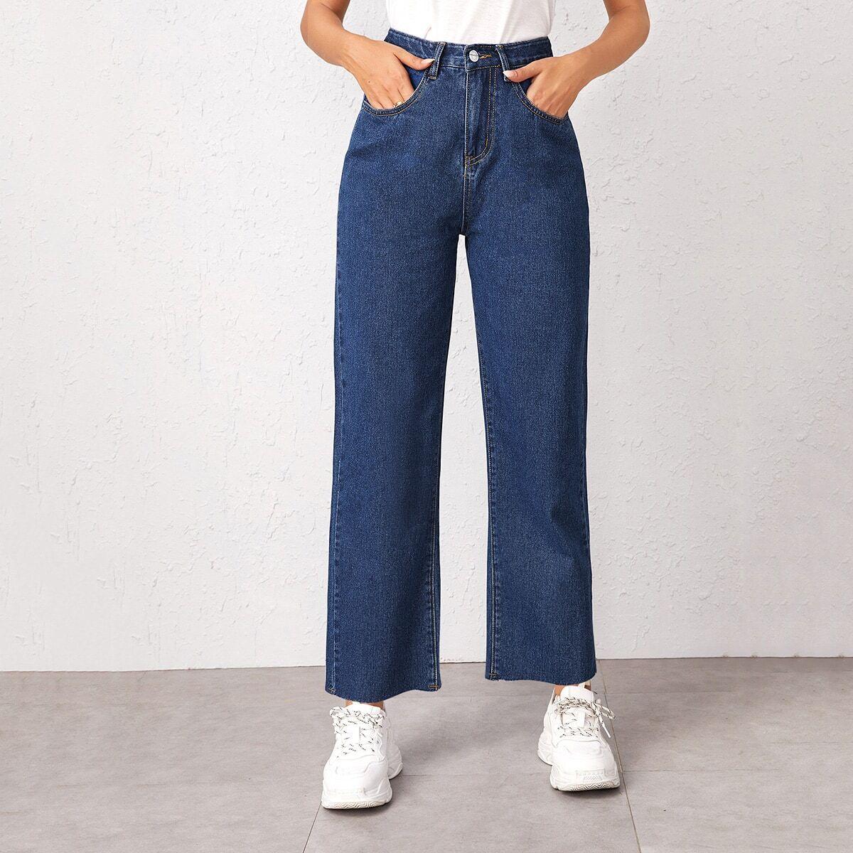 Модные прямые джинсы