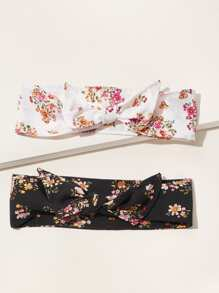 Ditsy Floral Pattern Headband 2pcs