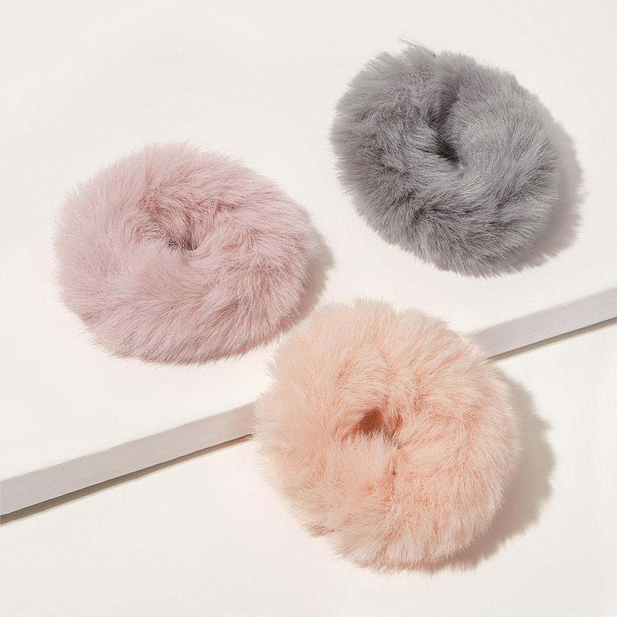 Резинки Для Волос Из Искусственного Меха 3 пары от SHEIN
