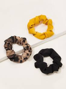 Colorblock Scrunchie 3pcs