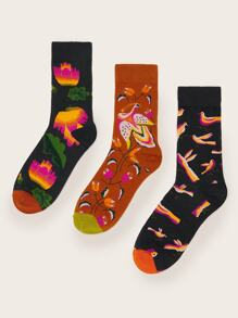 Flamingos Pattern Socks 3pairs
