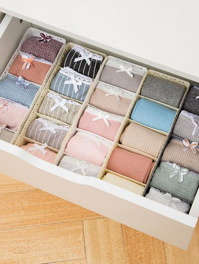 Multi-compartment Underwear Storage Box 1pc