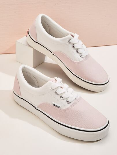 Two Tone Low Top Sneakers
