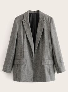 Lapel Neck Space Dye Blazer