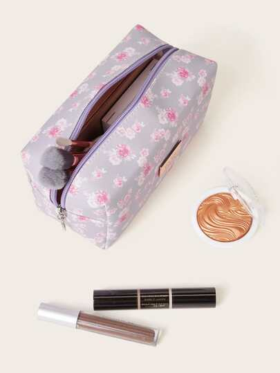 Ditsy Floral Pattern Makeup Bag