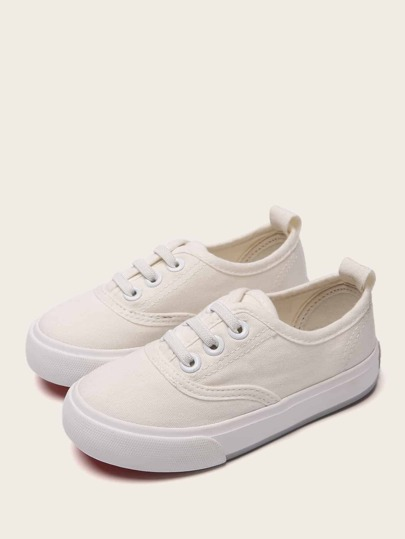Baby Girls Lace-up Canvas Sneakers