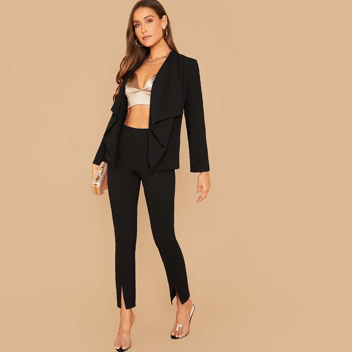 Пиджак и брюки с разрезом