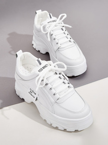 Lace-up Front Chunky Sneakers