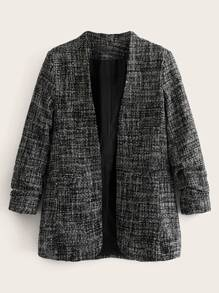 Open Front Space Dye Blazer