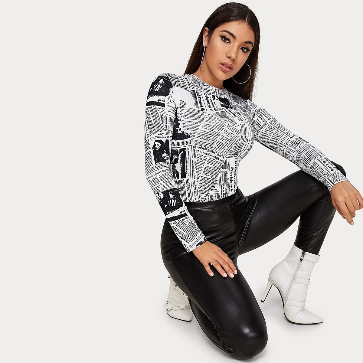Zwart & wit Elegant Tekst T-shirts