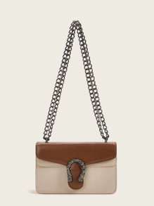 Two Tone Chain Crossbody Bag