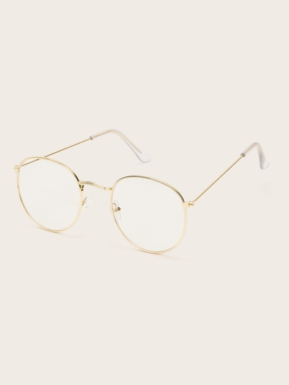 Metal Round Frame Glasses