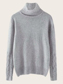 Cable Pattern High Neck Jumper