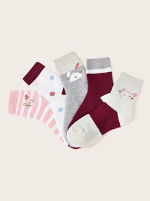 Striped Pattern Socks 5pairs