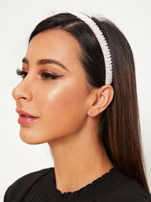 Faux Pearl Decor Headband