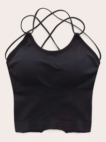 Solid Criss Cross Cami Top