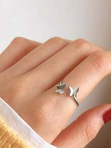 Butterfly Decor Cuff Ring 1pc