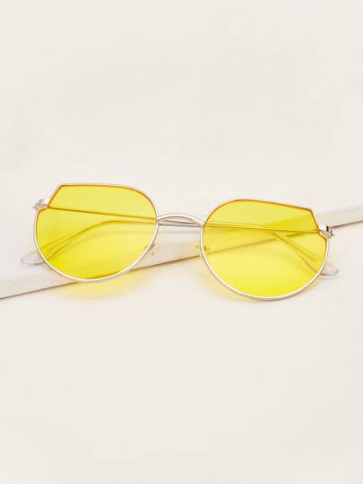 Guys Metal Frame Tinted Lens Sunglasses