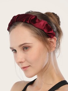 Ruched Satin Headband