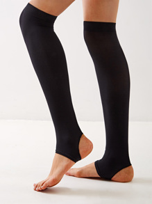 Open Toe  Stirrup Knee High Socks 1pair