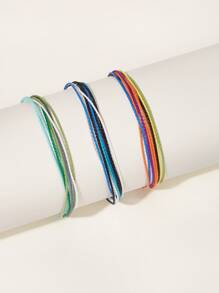 Colorful String Bracelet 3pcs